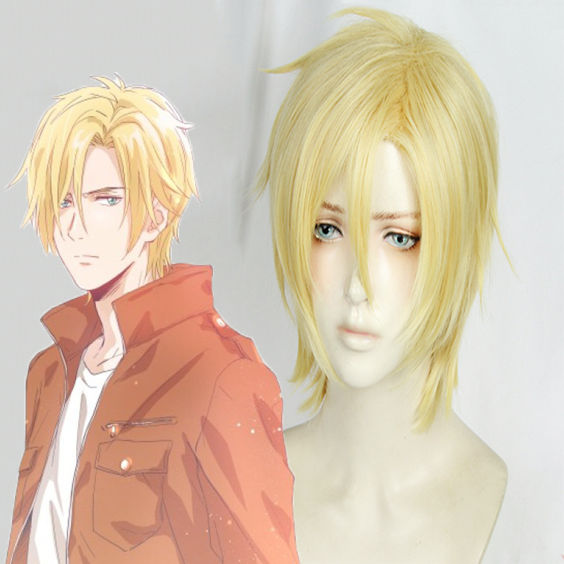 Anime Banana Fish Cosplay Wig Hair Aslan Jade Callenreese Cosplay Wig Heat Resistant Synthetic Wig Halloween Carnival Party