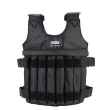 цена на 20kg/50kg Adjustable Weighted Vest Loading Weights Waistcoat for Boxing Training Workout Fitness Equipment Sand Clothing