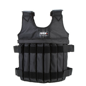 Image 1 - 20kg/50kg Adjustable Weighted Vest Loading Weights Waistcoat for Boxing Training Workout Fitness Equipment Sand Clothing