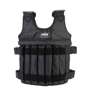 Image 1 - 20kg/50kg Einstellbare Gewichteten Weste Laden Gewichte Weste für Boxing Trainings Workout Fitness Ausrüstung Sand Kleidung