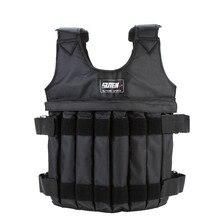 Gilet de poids de chargement de gilet pondéré réglable de 20kg/50kg pour des vêtements de sable déquipement de forme physique dentraînement dentraînement de boxe