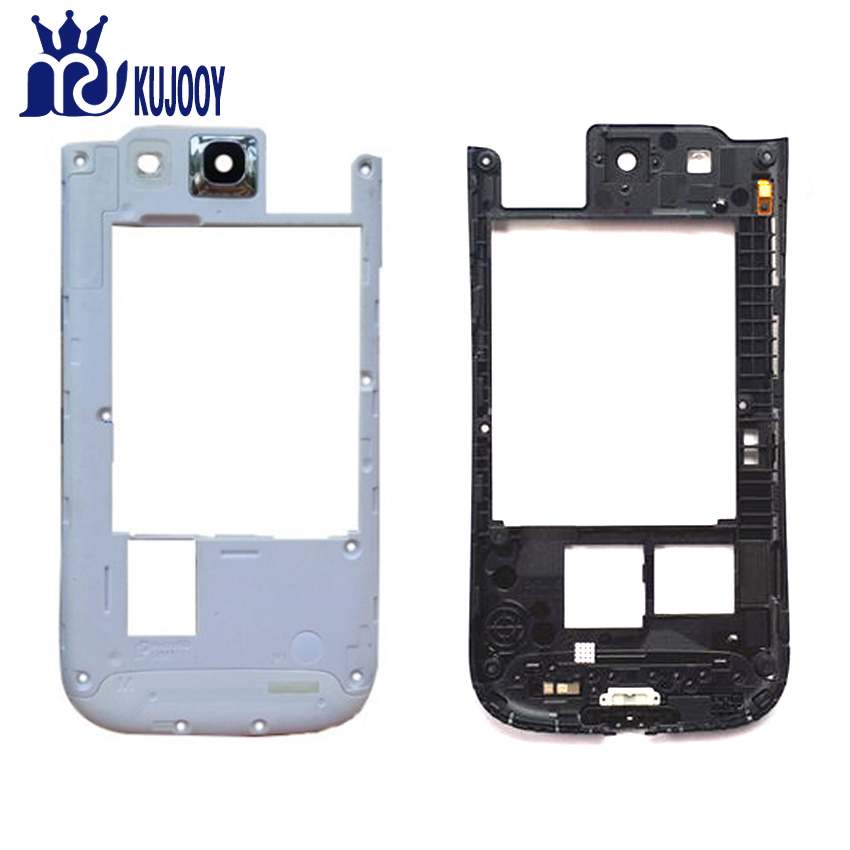 New S3 Middle FramFor Samsung Galaxy I9300 I9305 I747 Mid Chassis Plate Bezel Housing Parts White Black