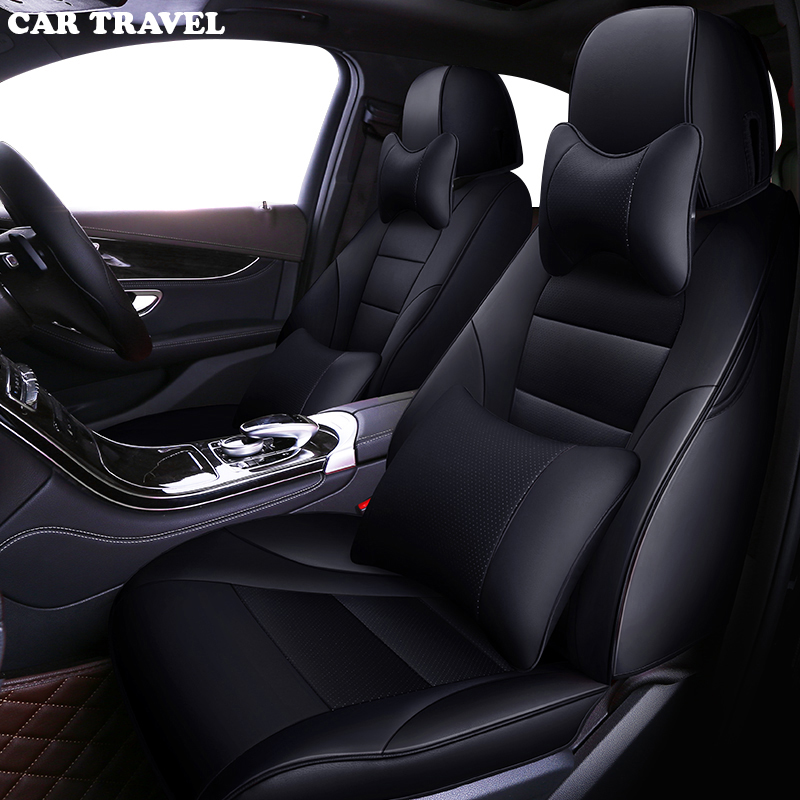 Us 155 57 45 Off Car Travel Custom Leather Car Seat Cover For Audi A3 A4 B6 A6 A5 Q7 Bmw Toyota Car Seats Interior Protector Cushion Styling In