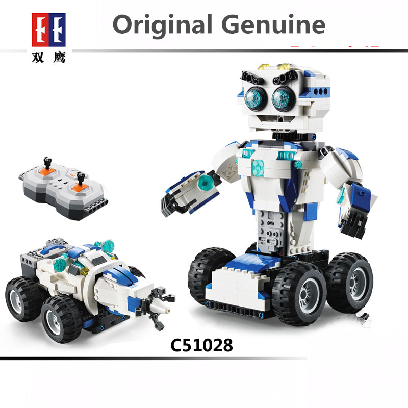 Deformation Robot <font><b>LegoINGLYs</b></font> DIY Remote Control Robot Building Assemble Blocks Bricks Compatible 16003 <font><b>21303</b></font> Original Genuine image