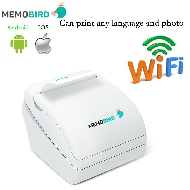 Prix pour Nouveau Memobird Imprimante WiFi Imprimante Thermique Imprimante code à barres Sans Fil À Distance Téléphone Photo Imprimante n'importe quelle langue et photo