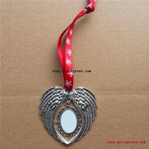 Image 5 - Material de impresión de transferencia en caliente, 10 unids/lote, sublimación, Navidad, forma de alas de Ángel, consumibles personalizados en blanco
