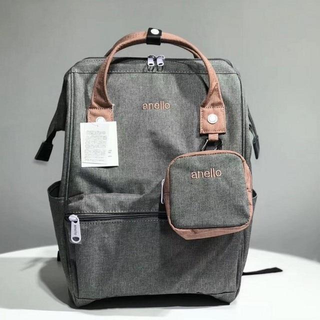 オリジナル Anello バックパック大容量オックスフォード防水ノートパソコンのバックパックティーンエイジャー男性スクールバッグ女性おむつバッグ旅行バッグ