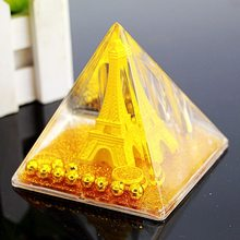 Eiffel Tower Pyramid Into The Oil Pen holder Creative Acrylic Sculpture Office Decoration Craft Holiday Gifts Figurines(China)