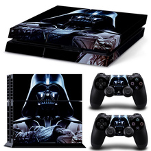 Star Wars Design Sticker Cover Wrap Protector Skin For Sony Playstation 4 Console & 2PCS Controller Skin Decal For PS4