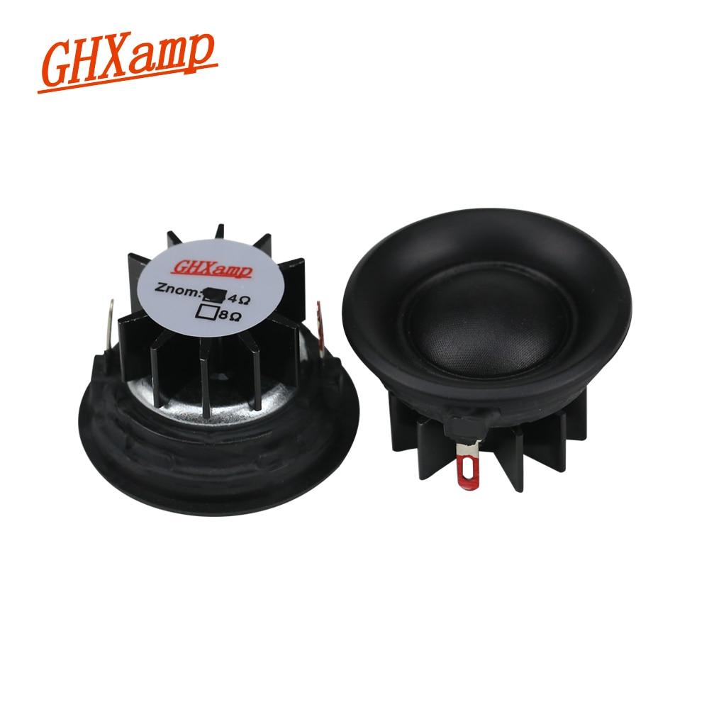 GHXAMP 20 Core 1.5 inch Tweeter Car Speaker Units 4OHM 10W Silk Diaphragm Dome Loudspeaker Neodymium Treble Head 89DB 2PCS ghxamp 3 inch 4ohm 30w midrange speaker car speaker mid human voice sound good loudspeaker for lg diy 2pcs