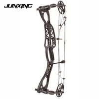 Adjustable 40 65 LBS Compound Bow 30 Inch Black Handle Speed 300 feet/s for Outdoor Archery Hunting Shooting
