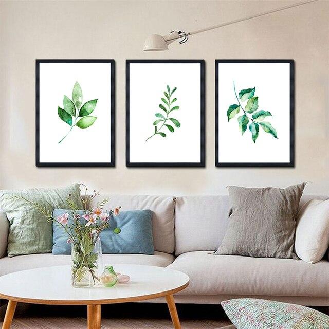 chair feuilles des plantes impression non cadre nordique. Black Bedroom Furniture Sets. Home Design Ideas