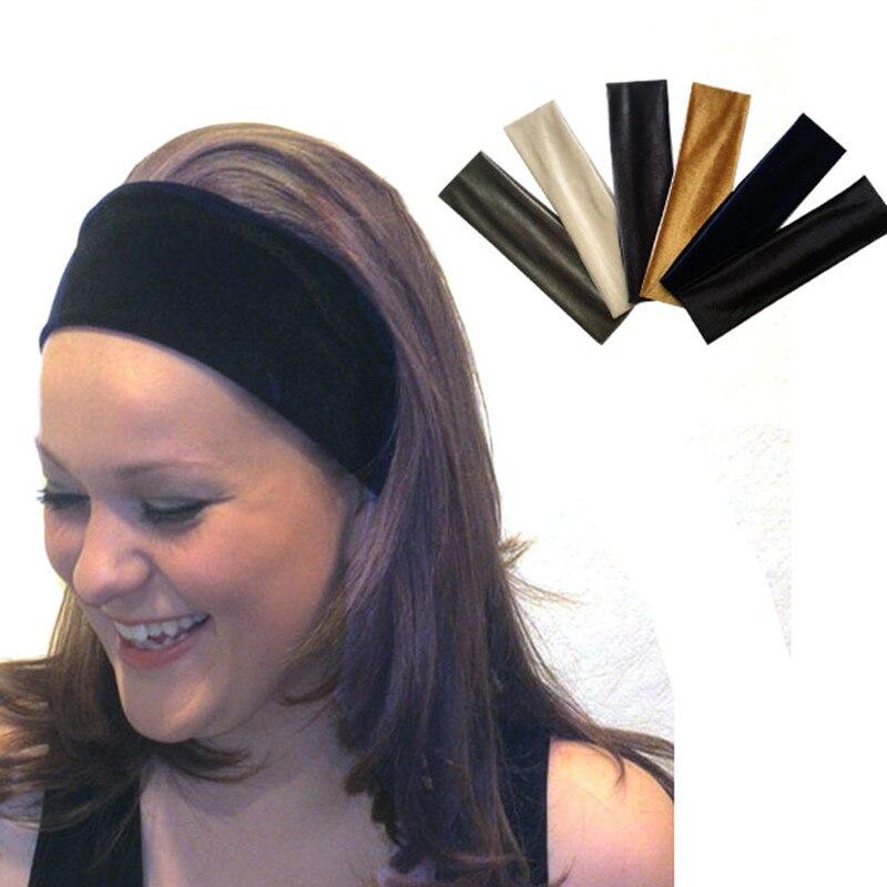 NEW-Elastic-Velvet-Classic-Color-Hair-Belt-Girl-Headband-Accessories-Black-Hair-Bands-Tie-For-Women