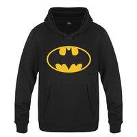 Classic Batman logo Sweatshirts Men 2018 Mens Hooded Fleece Pullover Hoodies