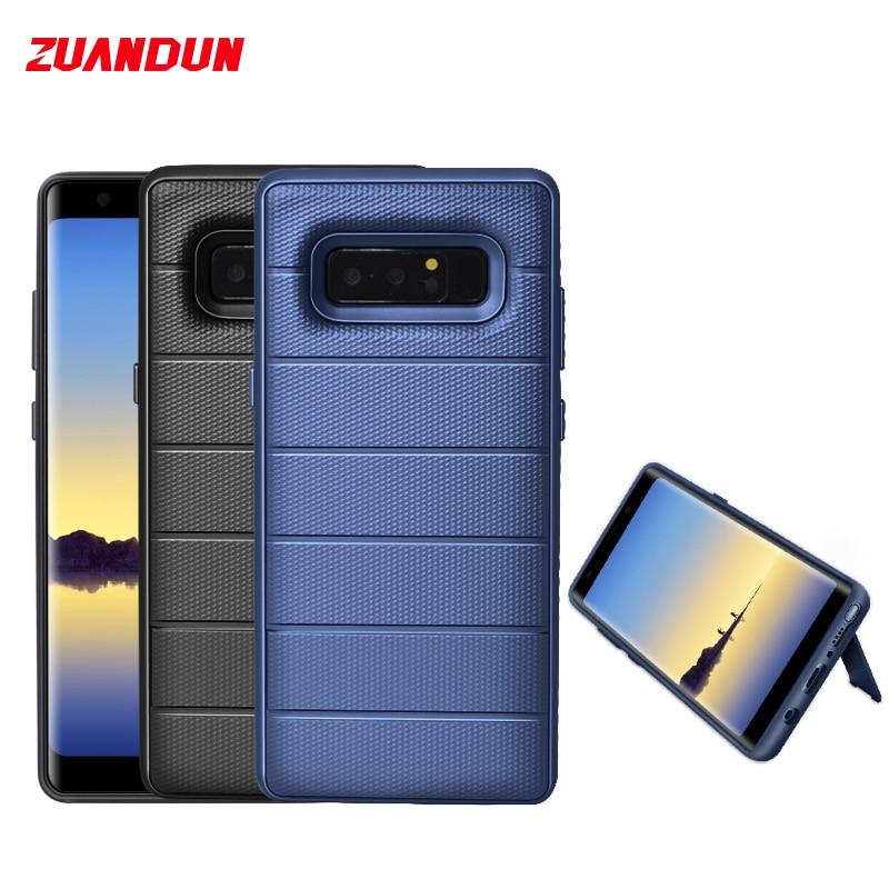 Antichoc Cas de Téléphone Pour Samsung Galaxy Note 8 S9 S8 Plus Stand TPU + PC Armure de Couverture de Silicone Pour Samsung Note 8 de Cas Complète