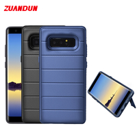 ShockProof Phone Case For Samsung Galaxy Note 8 S9 S8 Plus Stand TPU PC Armor Silicone