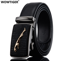 Automatic Buckle Belt Cowhide Leather Fashion Luxury Men Belt High Quality Alloy Belts For Men