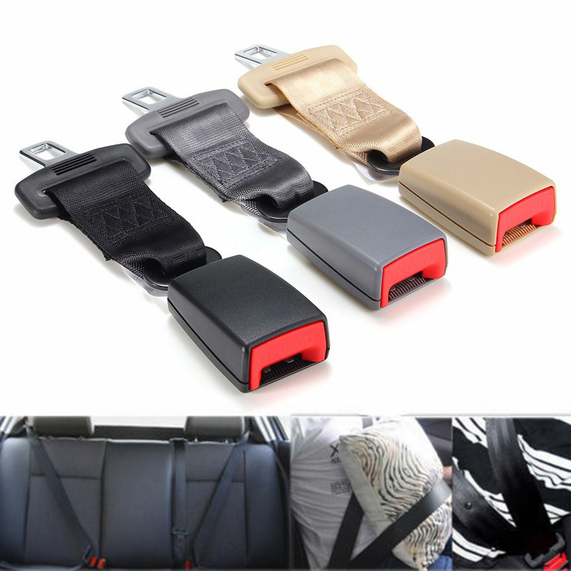 2Pcs 23cm Black Universal Auto Car Seatbelt Safety Seat Belt Extender Extension