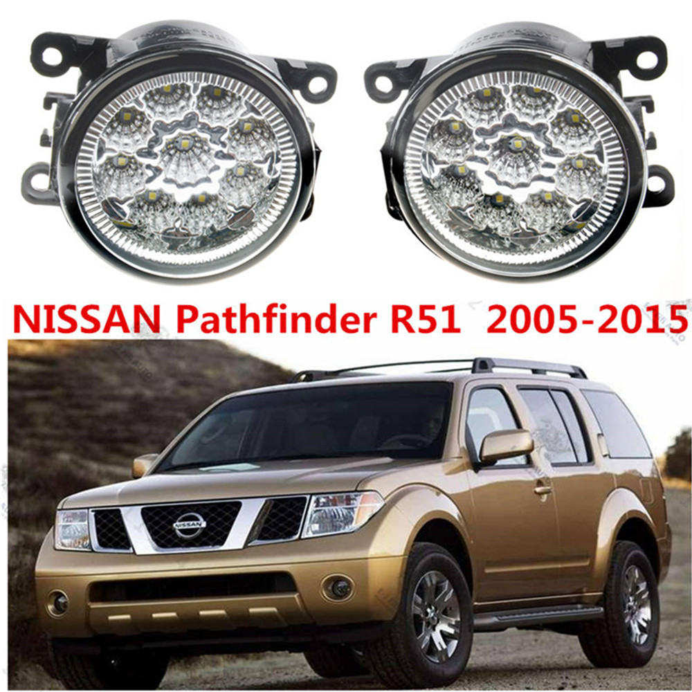 For NISSAN Pathfinder Closed Off-Road Vehicle R51 2005-2015 Car styling LED fog Lights high brightness fog lamps 1set for lexus rx gyl1 ggl15 agl10 450h awd 350 awd 2008 2013 car styling led fog lights high brightness fog lamps 1set