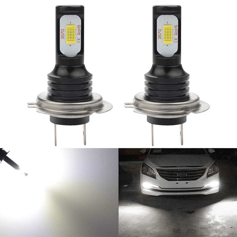 Katur 72W H7 Led Bulbs For Cars Running Driving Fog Lights 3570 Led Super Bright 6000K White Auto Lighting Canbus Error Free