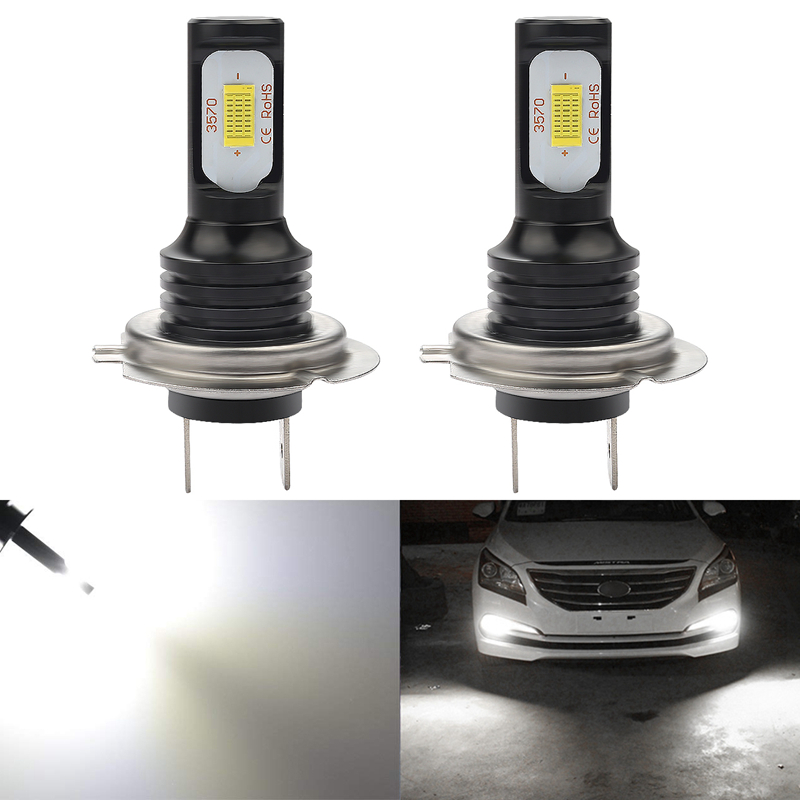 Led Auto Lights >> Us 18 28 Katur 72w H7 Led Bulbs For Cars Running Driving Fog Lights 3570 Led Super Bright 6000k White Auto Lighting Canbus Error Free In Car