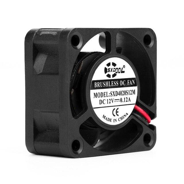 SXDOOL SXD4020S12M 4020 40mm lüfter 12 V 0.12A 2-Pin 5 Klinge Kühler Bürstenlosen Mini Lüfter 4020