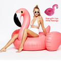 60 pulgadas 1.5 m Gigante Inflable Flamenco Cisne Ride-on Adult Party Kid Isla Flotante Flotadores de La Piscina de Natación de Verano diversión Juguete de Agua