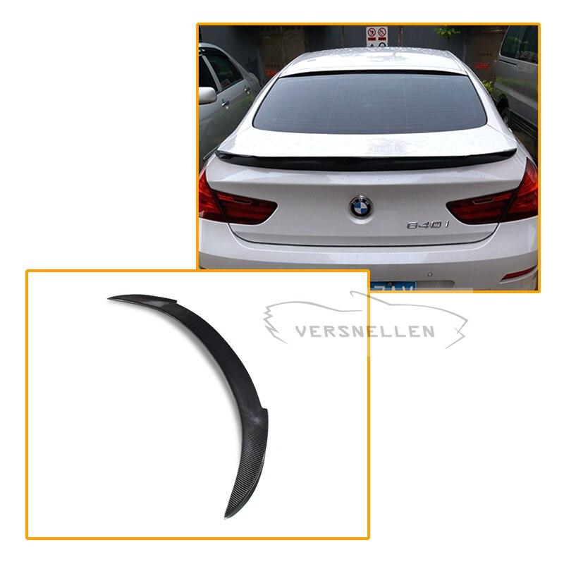 Vorstiner задний Багажник крыло углеродного Волокно для BMW 6 серии F06 Gran Coupe 4 Дверные рамы 2014 2015 2016 на спойлер