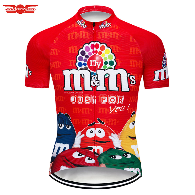 2018 Full Colors MMs Cycling Jersey Mtb Bicycle Clothing Bike Wear Funny Short Maillot Roupa Ropa De Ciclismo Hombre Verano racmmer 2018 pro team cycling jersey fit mtb bicycle clothing bike wear clothes short maillot bicicleta roupa ropa de ciclismo