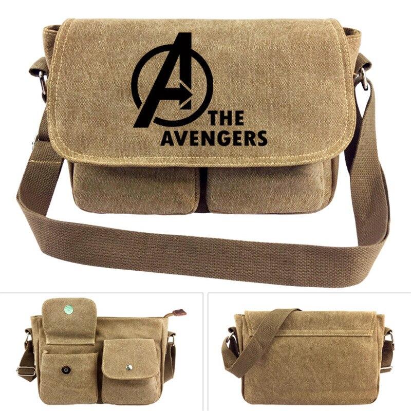 The Avengers Printed Cross body Bag Unisex Men Women Boy Girl Messenger Bags Canvas Shoulder Bag Cartoon Anime School Book Tote