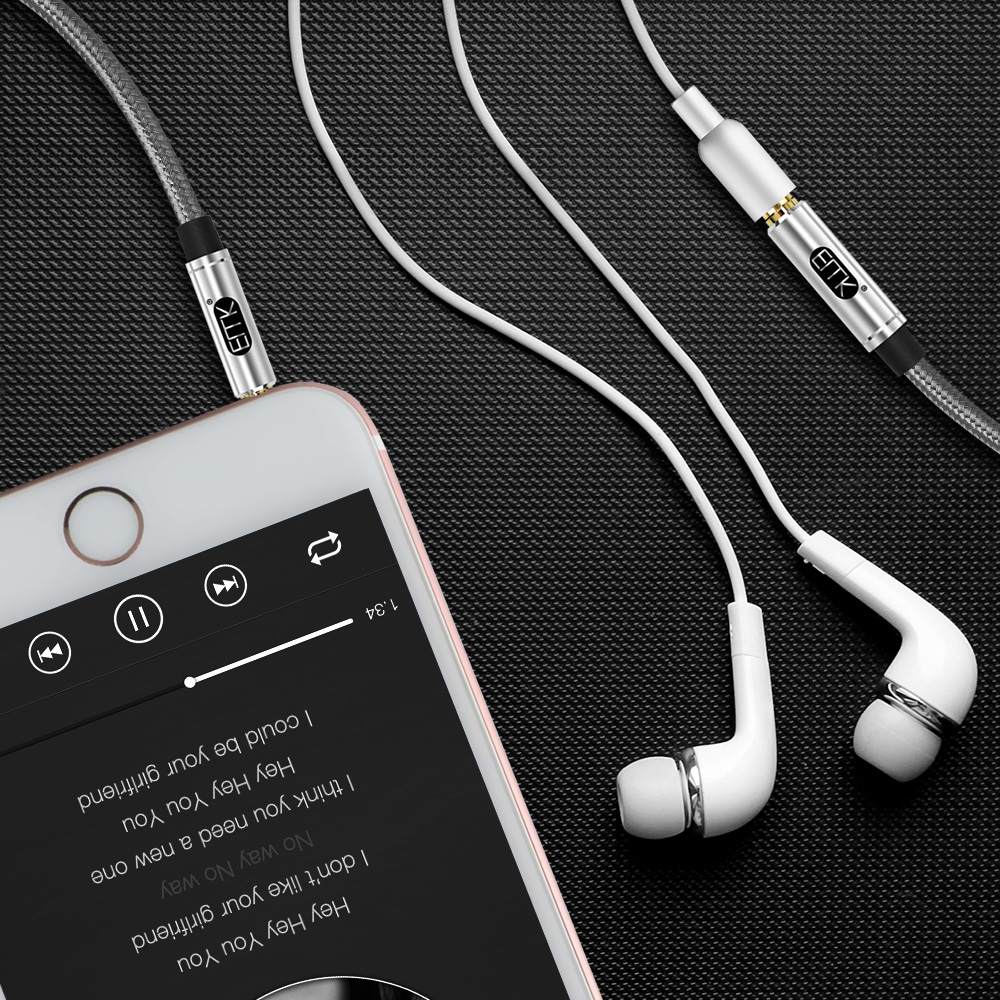 EMK Aux Cable Headphone Extension Cable 3 5mm Jack Male to Female For Computer Audio Cable 3 5mm Headphone Extender Cord