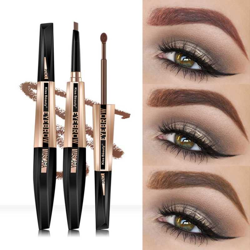 Hot Sell Eyebrow Cream Eyebrow Pen Two-In-One Long-Lasting Waterproof Eyebrow Makeup Product