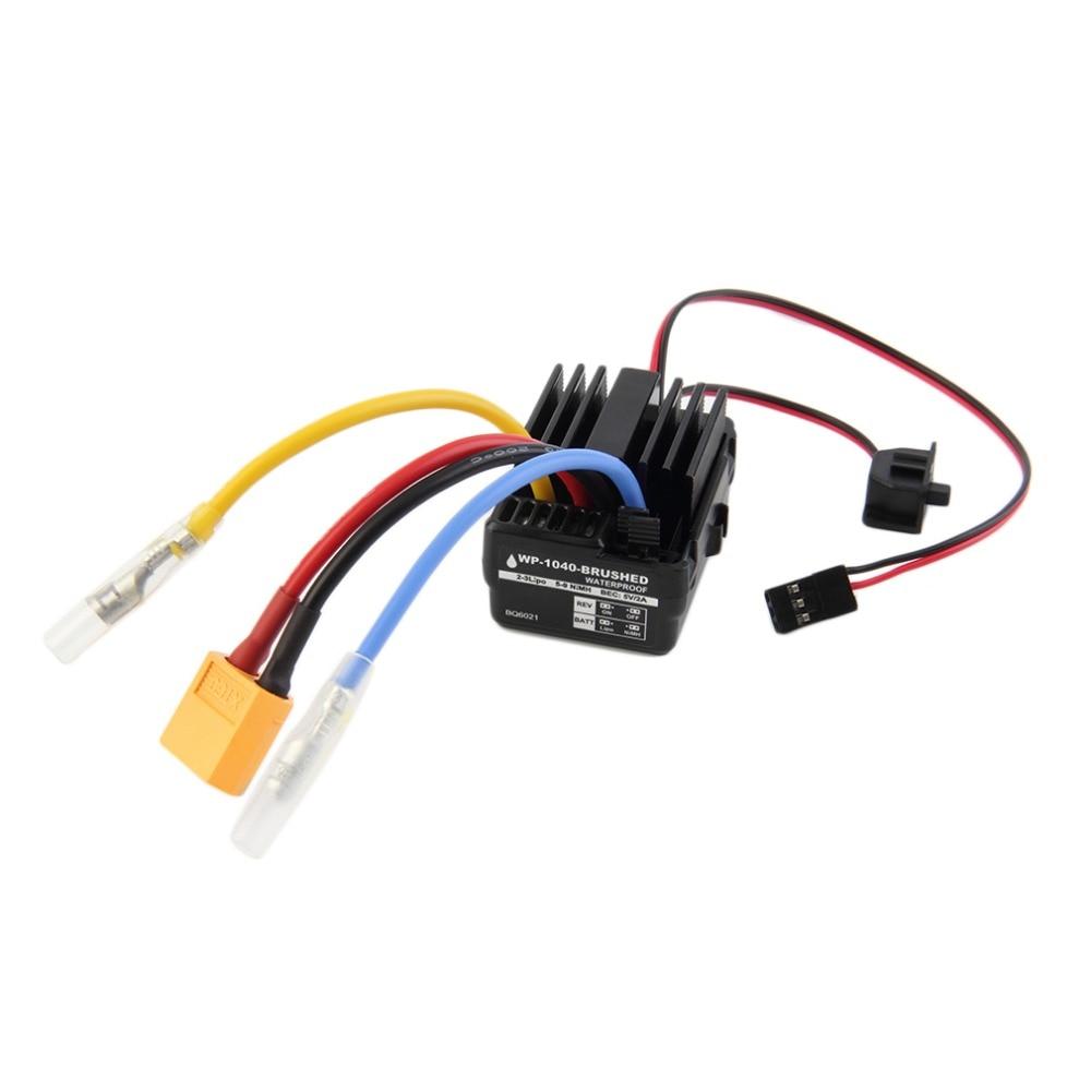 Фирменная Новинка WP 1040 60A BQ6021 Матовый контроллер ESC Водонепроницаемый для щеточный электронный регулятор скорости Hobbywing Quicrun автомобильный ...
