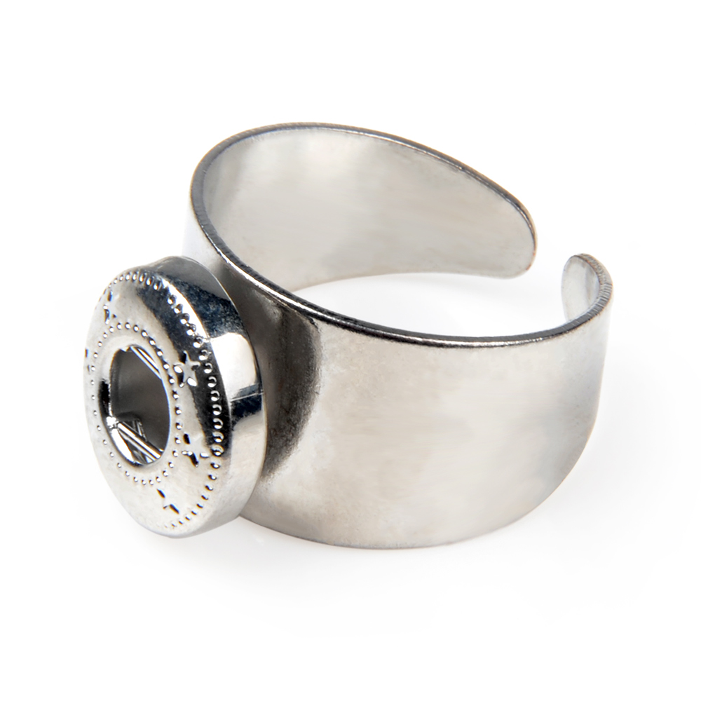 Metal DIY Interchangeable 12MM Snap Button Rings For Woman image