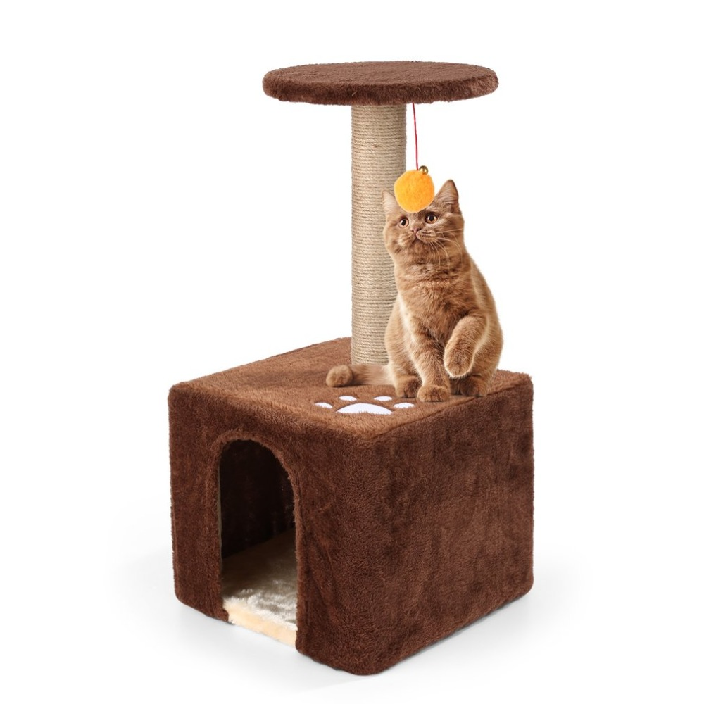 Us 2578 30x30x585cm New 2018 Pet Play Toy Wood Cat Scratcher Tree Scratching Post Climbing Frame Cats House Free Shipping In Furniture