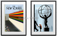 modern decorative paintings posters mural prints the new yorker color world and science 2 panels free shipping