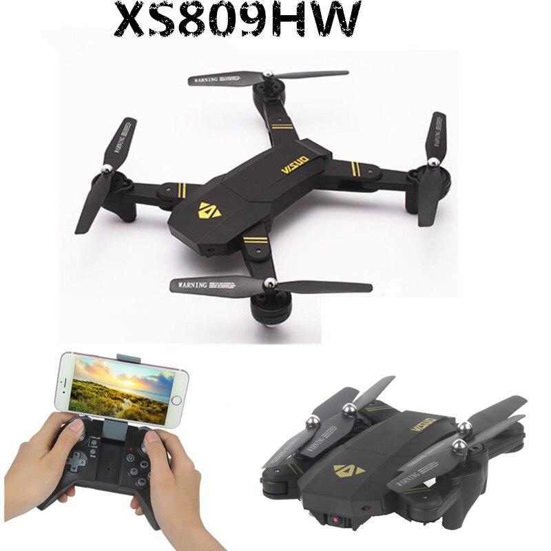 VISUO RC font b Drones b font XS809W XS809HW Foldable Quadcopter Mini font b Drone b