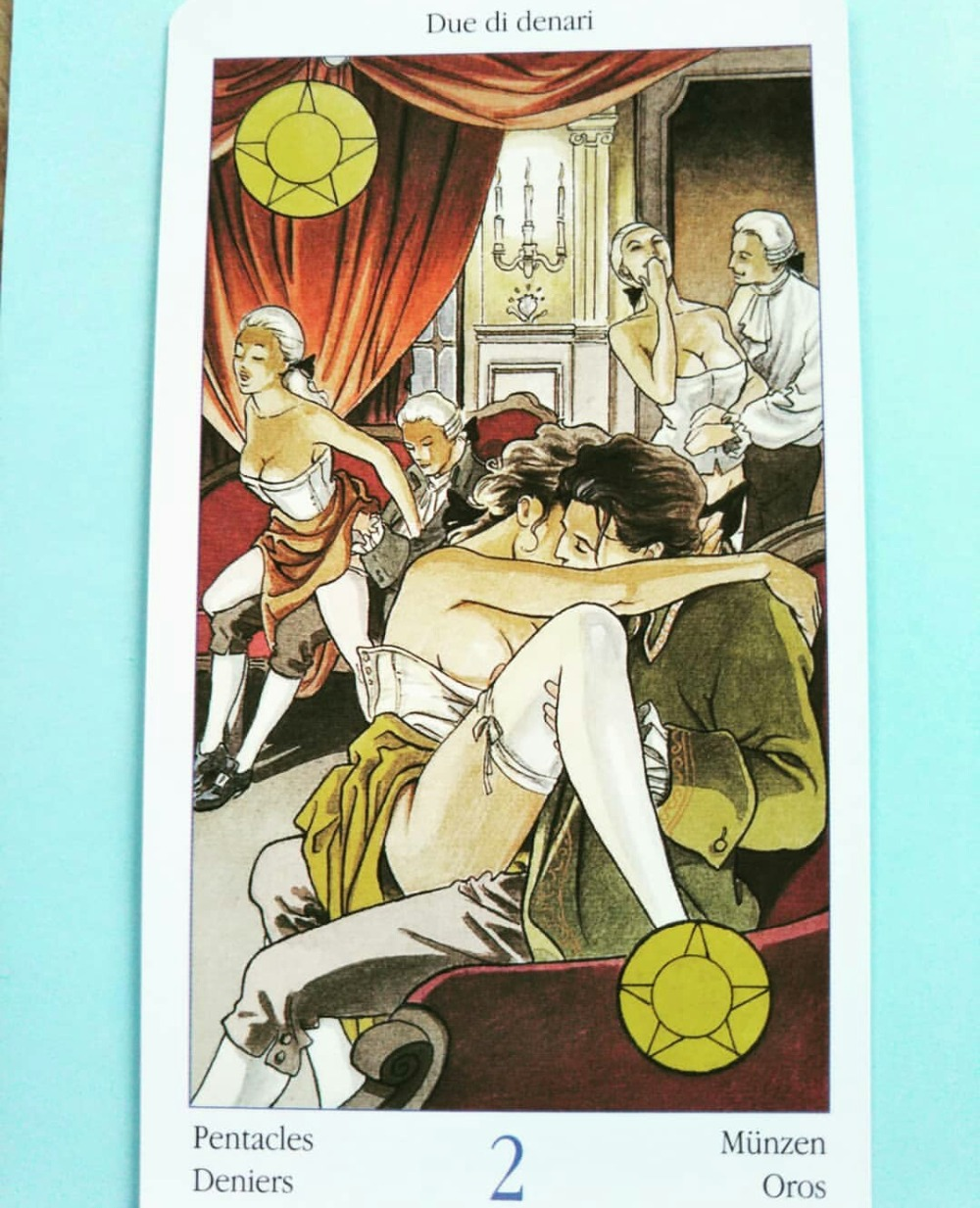 Full English Tarot Of Casanova Cards Factory Made High Quality Deck Board Game Cards