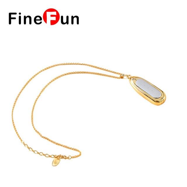 FineFun New Water Drop-shaped Metal Necklace Pendant Case for Mi band 2S pulse Smart Bracelets Accessories