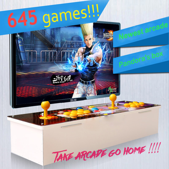 Cheap 645 games Double game console/ Pandora's Box 4 arcade board machine/ joystick game controller/  VGA out put