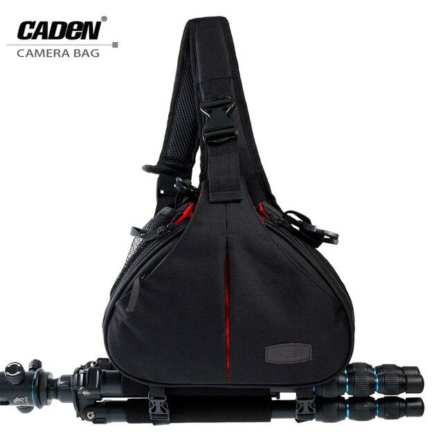 Caden dslr камеры мешки слинг плеча видео фото цифровой кросс тело сумка водонепроницаемый с дождевик для nikon canon k1 классический