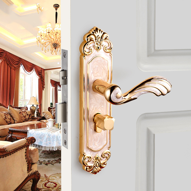 High-end European Design Handle Lock Door Interior Lock Luxurious Anti-theft Gate Lock Furniture Hardware цена