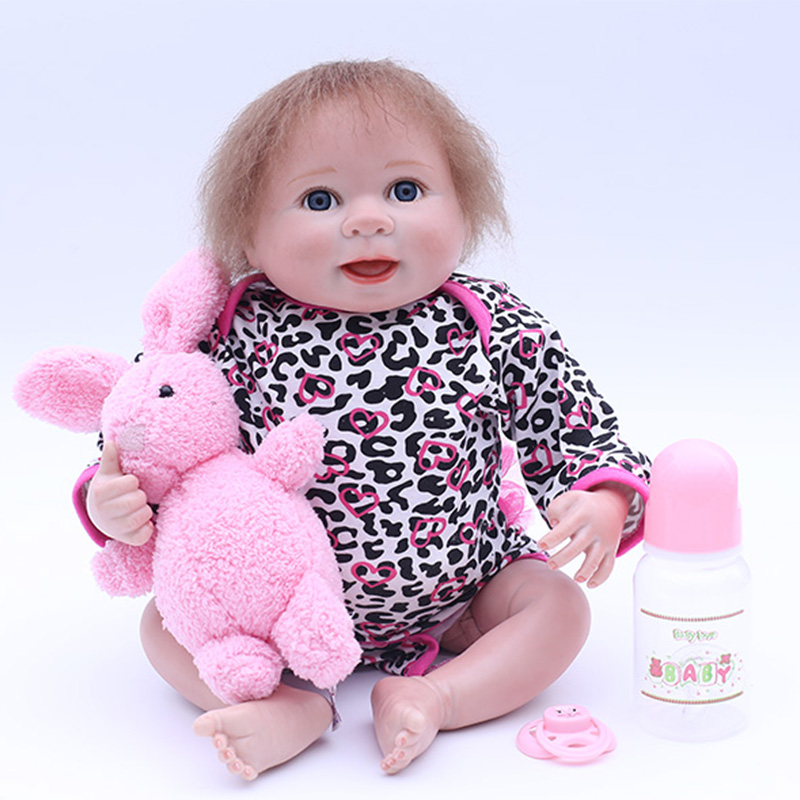 45cm Lifelike Silicone Reborn Baby Alive Baby Dolls Vinyl Cotton Body Wear Infant Clothes Truly Kids Playmates Toy for Kids45cm Lifelike Silicone Reborn Baby Alive Baby Dolls Vinyl Cotton Body Wear Infant Clothes Truly Kids Playmates Toy for Kids