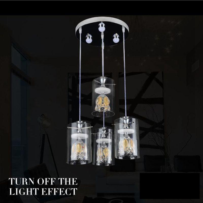 Moderne Kreative Bltenblatt Kristall Glas Wohnzimmer Fhrte Anhnger Einfache Goldene Schlafzimmer Esszimmer Temperatur Licht Lampen Und