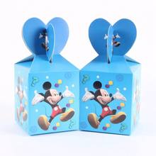 6pc Happy Birthday Mickey Gift Bags Candy Bag for Unicorn Party Baby Shower Girl Paper Candy Box Gift Packaging Party Supplies(China)