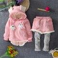 Женский ребенка зима более новых добавить шерстяной костюм 0 - 1 - 2 - 3 - год - детская одежда девушки костюмы прилив осенью и зимой 2015 года