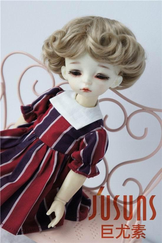 JD369 1/6 YOSD парики для шарнирных кукол модный кудрявый парик 6-7 дюймов BJD синтетический, мохеровый, для куклы парики аксессуары для кукол - Цвет: Brown SM4B