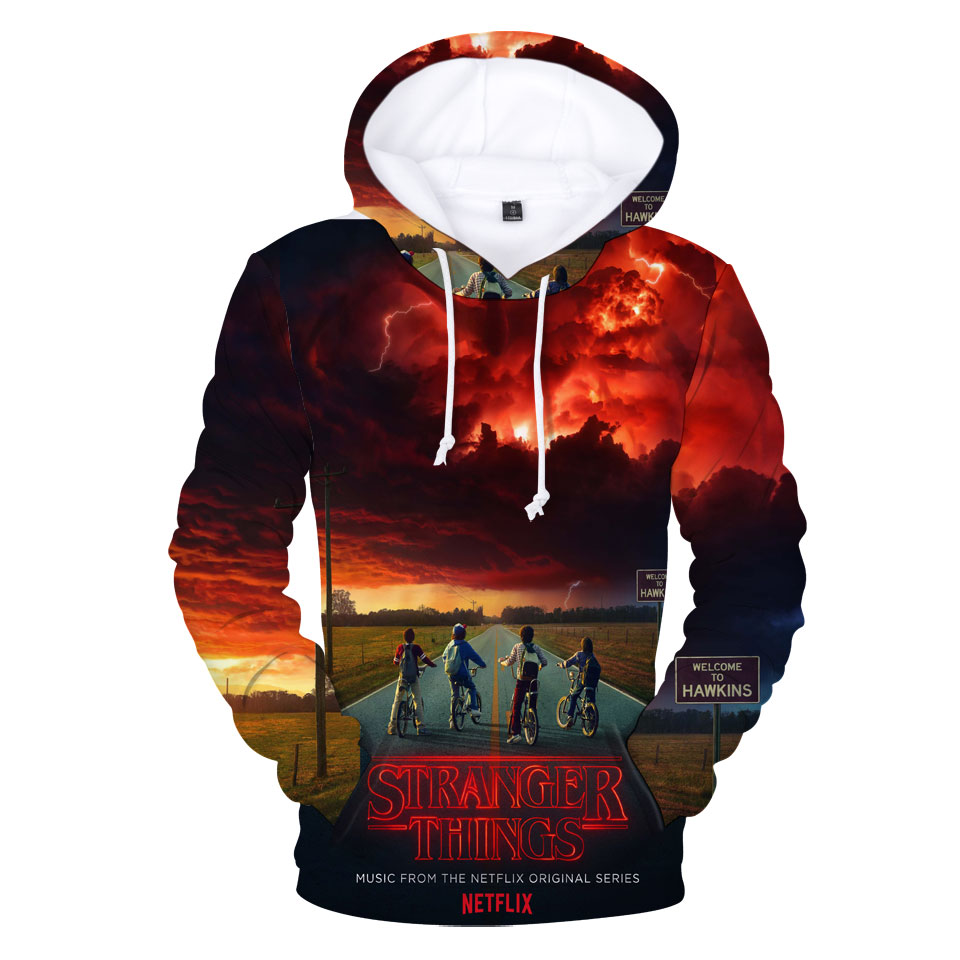 Women/Men 3D Hoodies Stranger Things Sweatshirt High Quality Fashion Mens Hoodies 3D Sweatshirt Stranger Things Wmens Hoodie