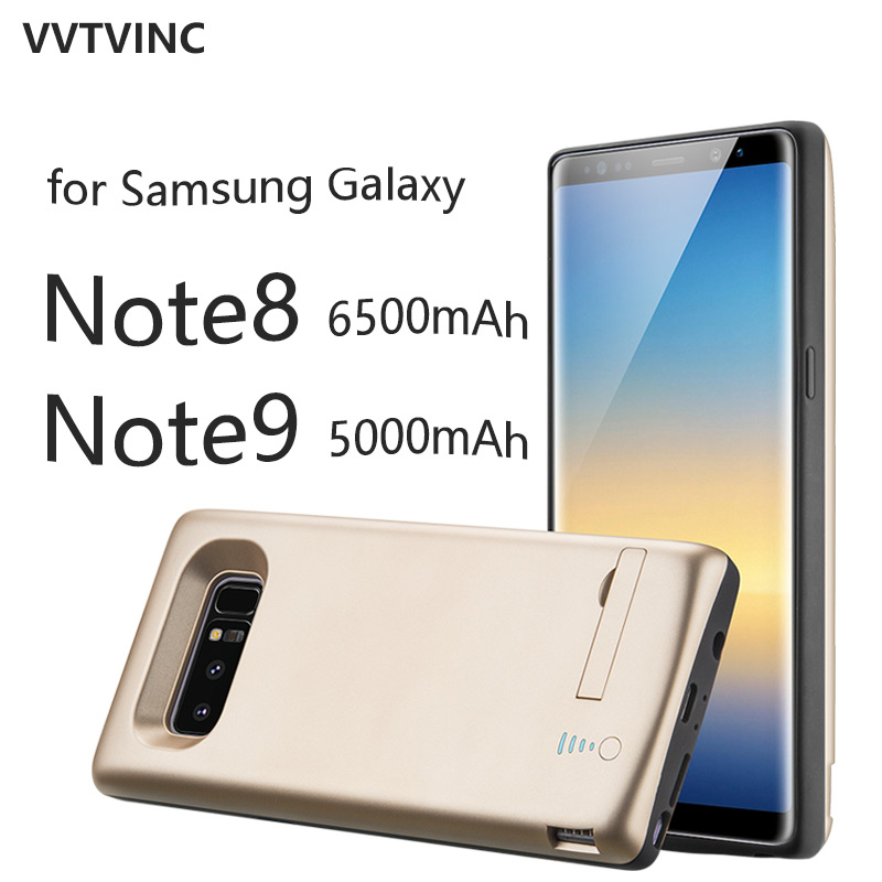VVTVINC Battery Charger Case Power Case 6500mAh 5000mAh For Samsung Galaxy Note 8 Note 9 Power Bank Battery Case With BracketVVTVINC Battery Charger Case Power Case 6500mAh 5000mAh For Samsung Galaxy Note 8 Note 9 Power Bank Battery Case With Bracket