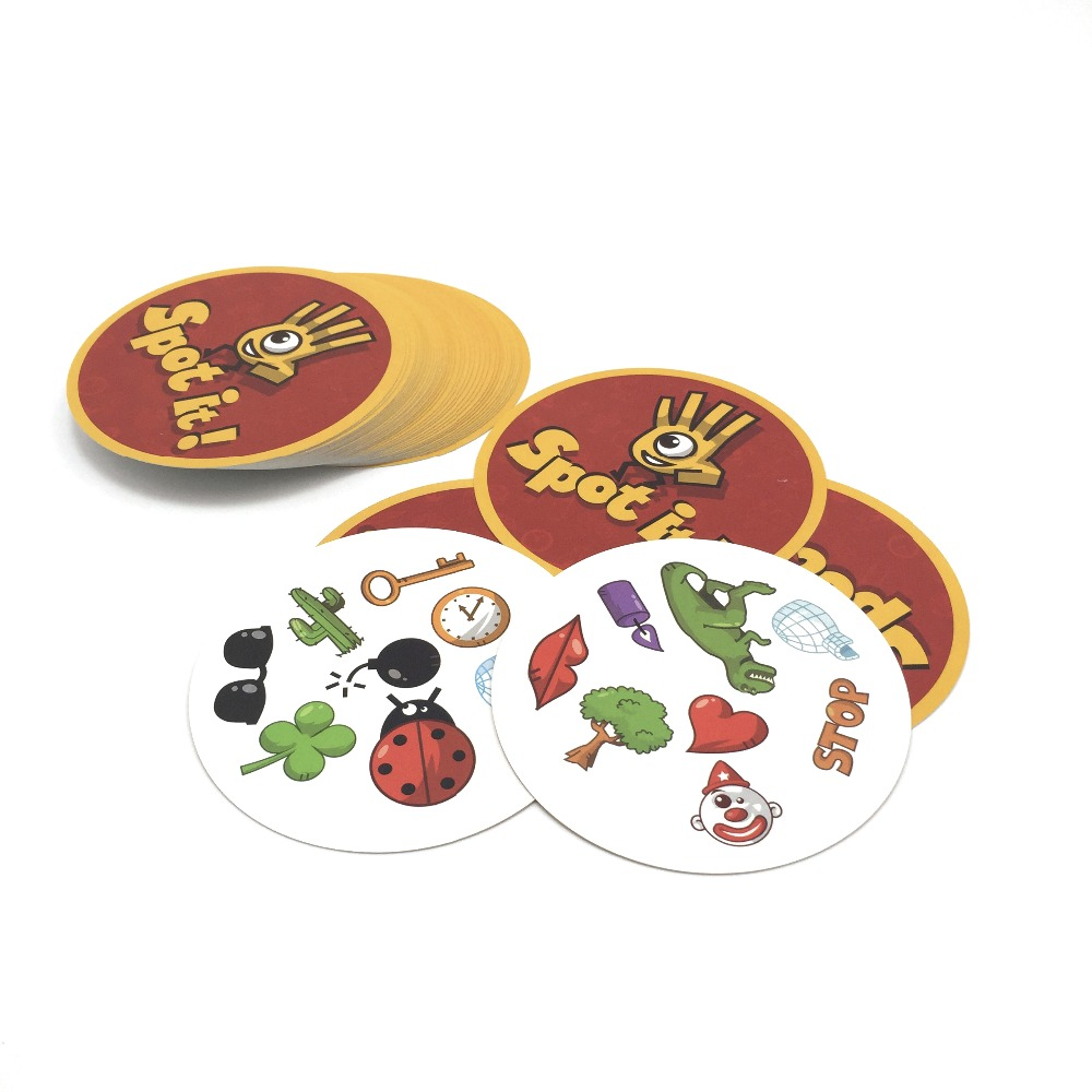 2017 new spot it best gift for the family, imported paper Dobble it board game cards game without metal box